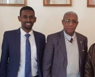 Ethiopian Ambassador with Samson Abebe Telila Traitor at Ethiopian Consulate in Lebanon Covering up Murder of Migrant Domestic Worker